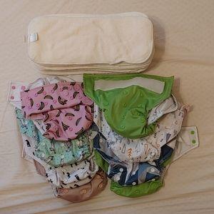 8 la petite ourse (LPO) cloth pocket diapers